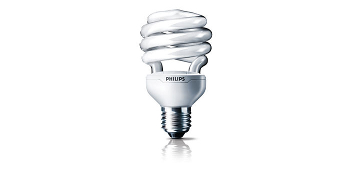 A compact fluorescent light bulb