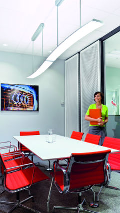 Philips lighting illuminated the meeting room of Audi