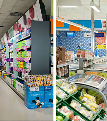 Philips LED lights add more sparkle to the merchandise at Consum Supermarkets, Valencia