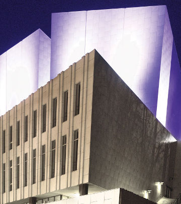 With the help of Philips architectural lighting, Finlandia Hall is now home to beautiful light displays