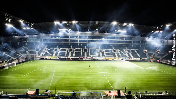 Philips Lighting ensures that both players and spectators have clear visibility at Ghelamco Arena, Belgium
