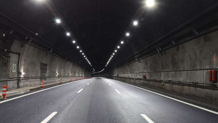 The entrance of Lundbytunnel