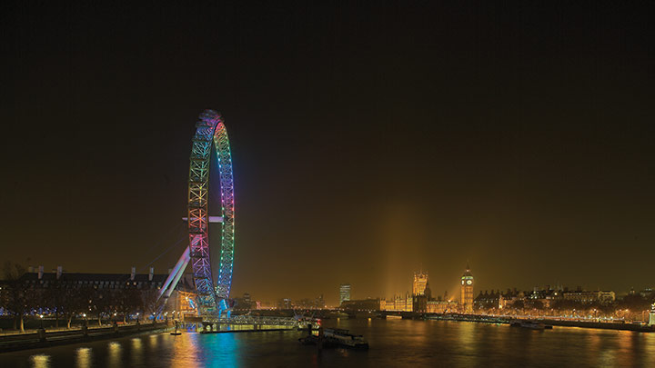 London Eye with lighting impact