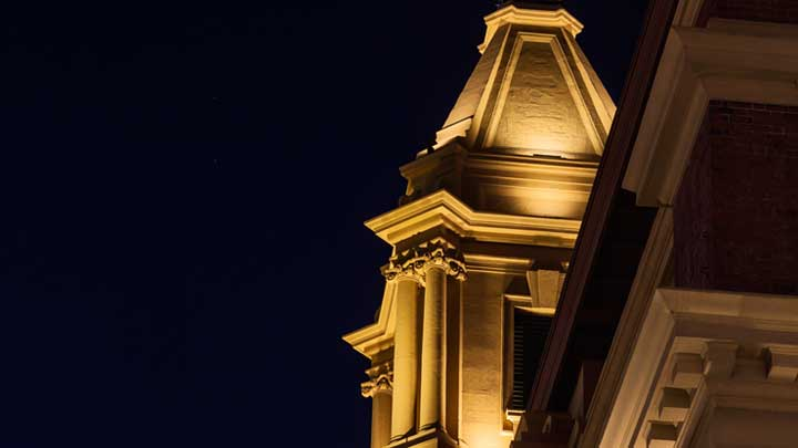 Ferry Building lighting Auckland New Zealand