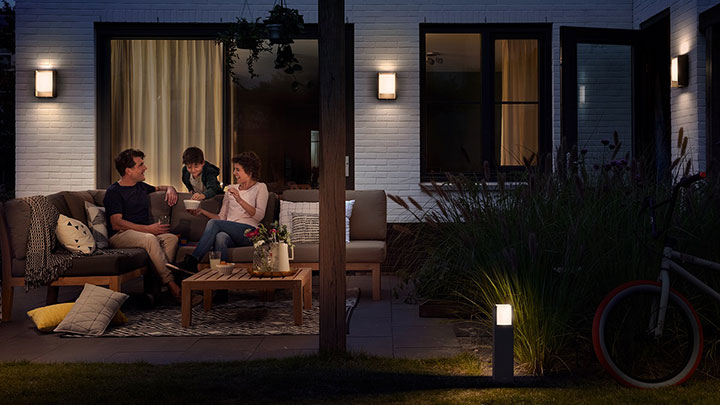 outdoor_Functional and stylish, outdoor lighting makes your garden shine at all times of day